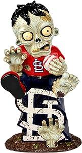 FOCO MLB St. Louis Cardinals Sitting On Logo Zombie