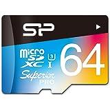 シリコンパワー microSDXCカード 64GB U3 4K動画 最大読込90MB/秒 最大書込80MB/秒 永久保証 SP064GBSTXDU3V20SP