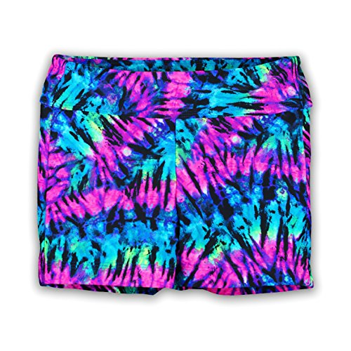 Pelle Gymnastics and Dance Shorts - Purple Tie-Dye (Many Prints) - cm