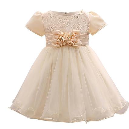 Vestido de niña de flores Vestido de dama de honor de la boda del partido formal del vestido de la princesa Faldas de tutú de cumpleaños de niñas bebé ...