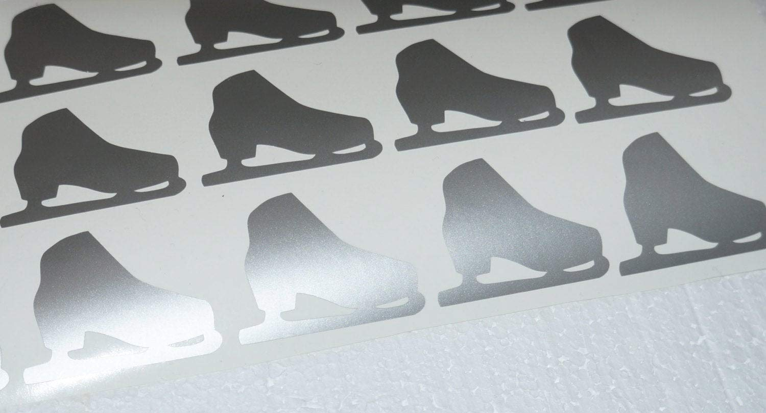 Christmas Stickers Cup Sticker Nursery Wall Decor 30 Ice Skate Stickers Figure Skating Winter Decal Envelope Seal Decorative Stickers