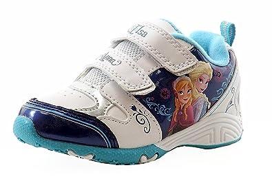 Girls Fashion Frozen Sneakers Disney Light Up Whiteblue Toddler htsQdBrxC