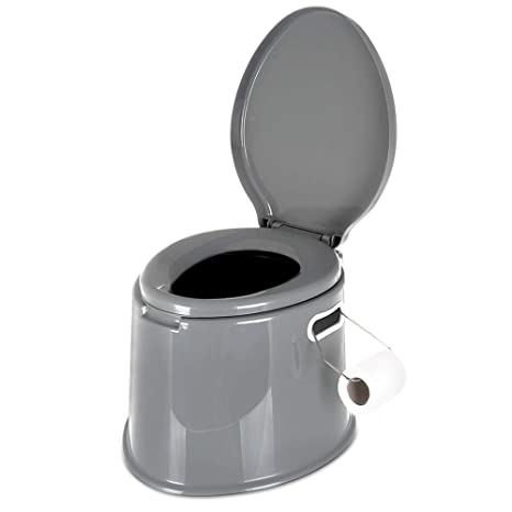 9a165bb6c3e Lightweight and Portable 5L Camping Toilet with Seat