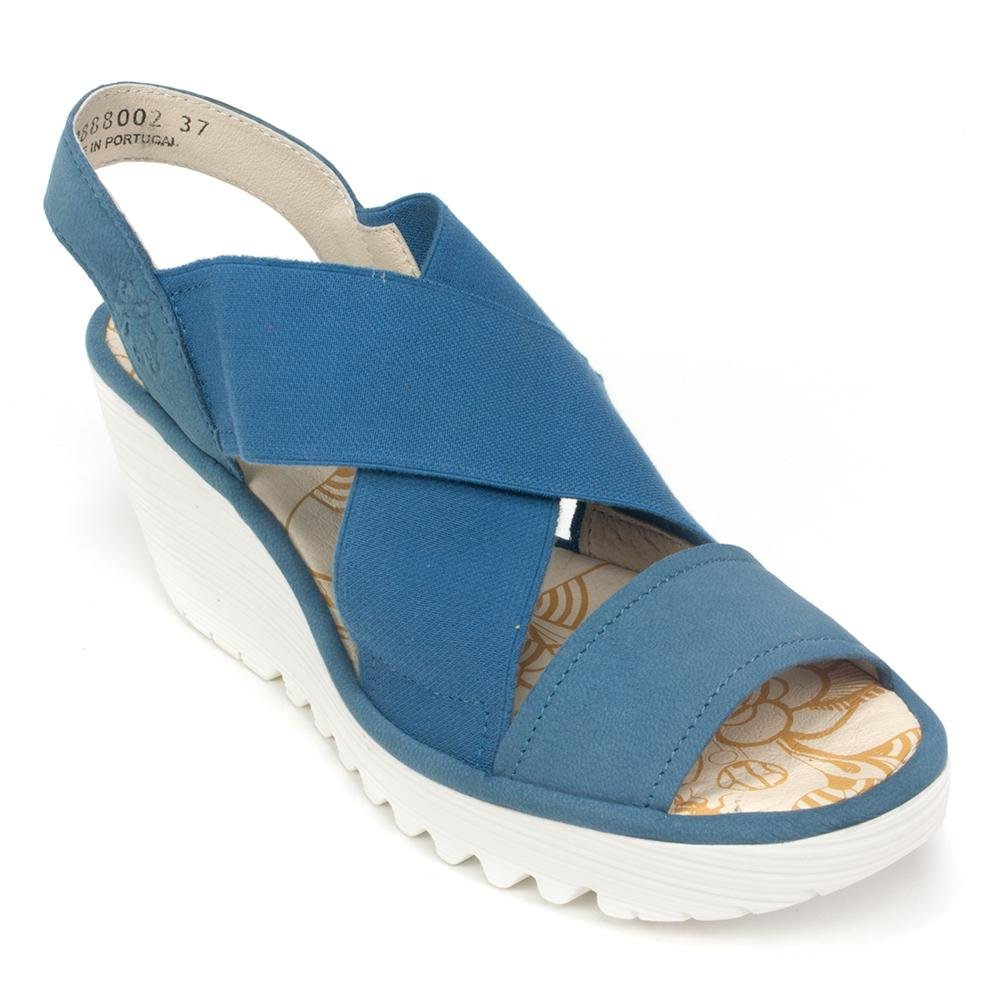 FLY London Womens Yaji Wedge B077C8GD8Z 36 M EU|Smurf Blue Cupido