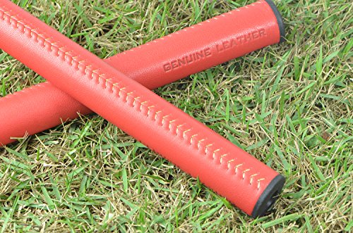 Finest Handcrafted Leather Golf Putter Replacement Grip- Midsize 3.0 Slim Fit, Stitchback, Laced - Cat Squared 5