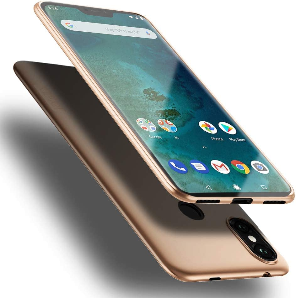 X-level Funda Xiaomi Mi A2 Lite,Ultra Delgada y Ultra Slim Ligero Protective Suave TPU Carcasa Case para Xiaomi Mi A2 Lite-Oro