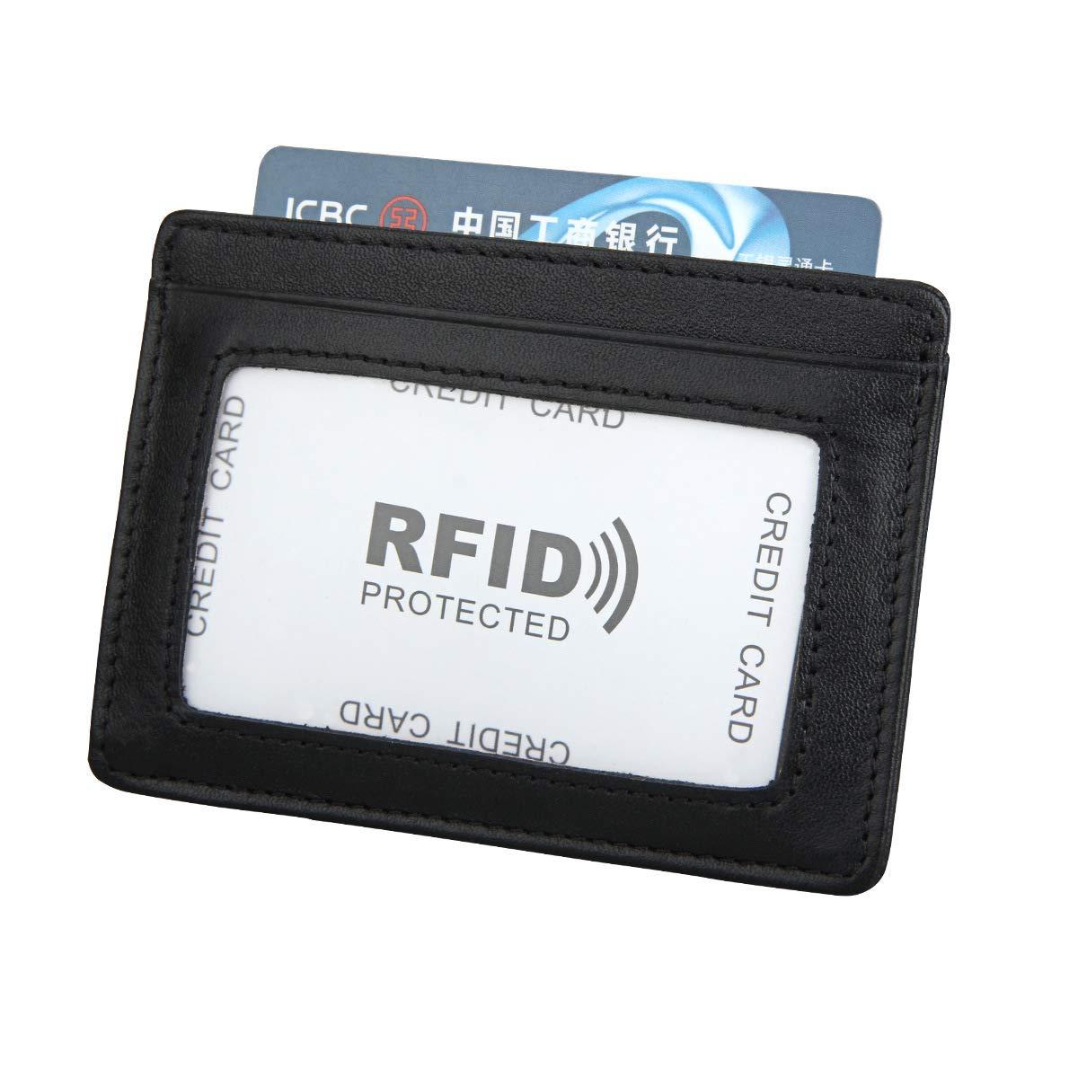 7cd550b814fa Baellerry Slim Credit Card Holder Minimalist Secure Thin Wallet RFID ...