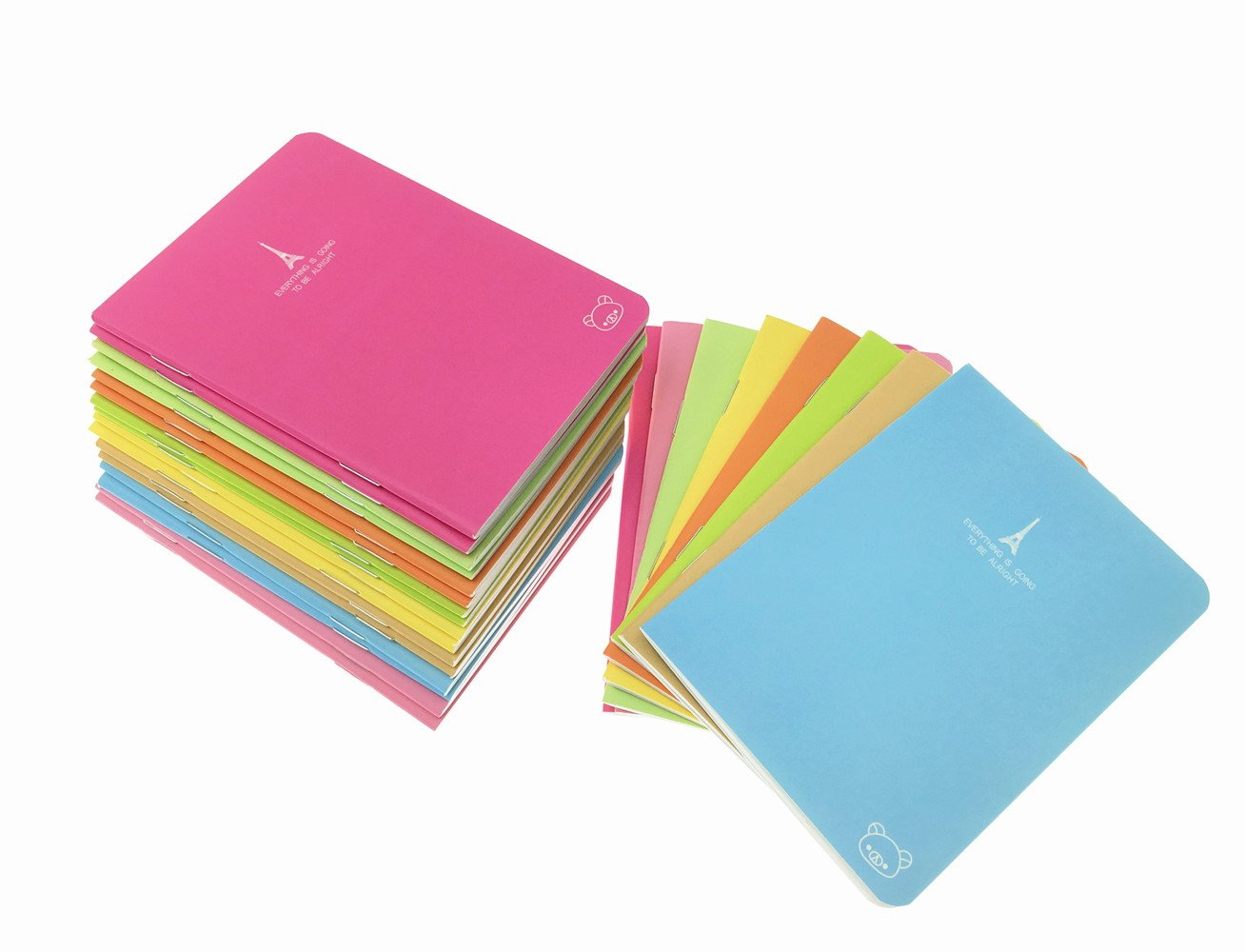 24pcs Candy Colors Portable Steno Memo Notebook MiniDaily Mini Diary NotePad(8 Colors) By Alimitopia