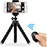 YIWEI iPhone Tripod Mount Adapter Stand Mount with Remote for iPhone X/8/7/7 Plus,6s,6 Plus/Android Phone/Tablet/Camera/Sports Camera