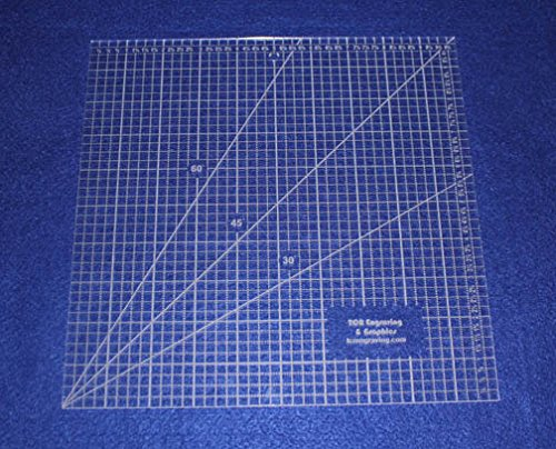 Square Ruler 10''. - Clear Acrylic - Quilting/Sewing - Template 1/8'' by TCR Templates