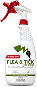 Nature-Cide Flea & Tick. All Natural Tick and Flea Spray for House and Pets to Keep Your Home Safe. Kills on Contact. No Strong Odor.