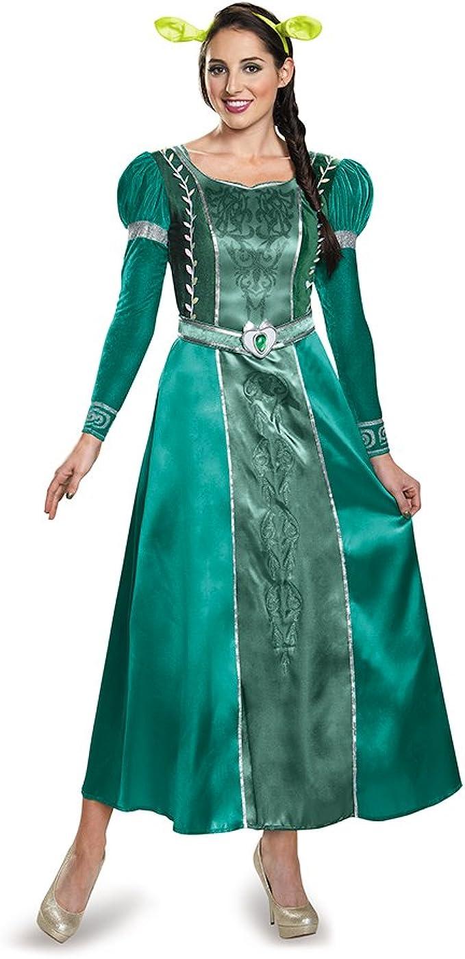 Disfraz Mujer Fiona Deluxe Adulto Disfraz - Verde -: Amazon.es ...