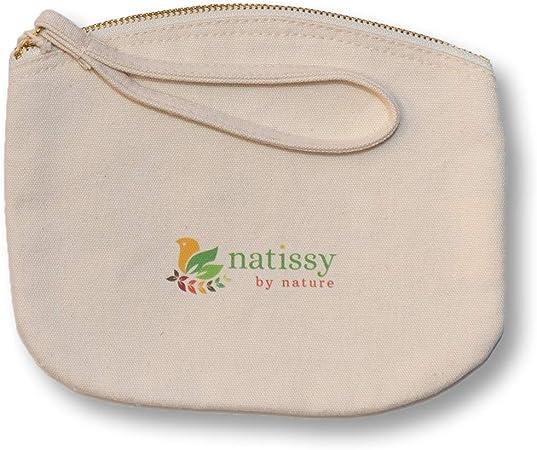 Bolsa de Aseo de Algodón Ecológico, perfecta para tus productos ecológicos y lavables: salvaslips, compresas, almohadillas de maquillaje y de ...