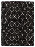 Cheap Ashley Furniture Signature Design – Gate Transitional Area Rug – 7×10 ft Large Size – Black & White Print