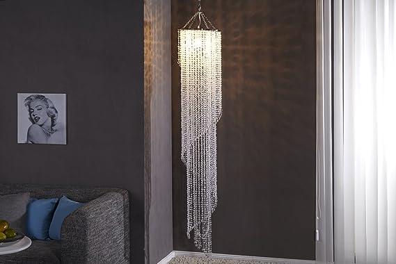 Design xl hängelampe kronleuchter big strass 180cm e27 kristall