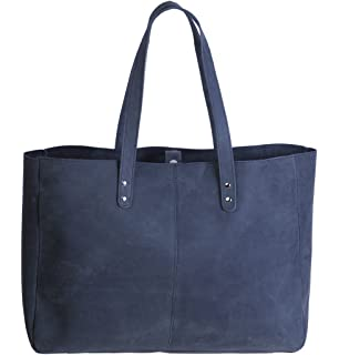 Komalc Genuine Soft Buffalo Leather Tote Bag Elegant Shopper ...