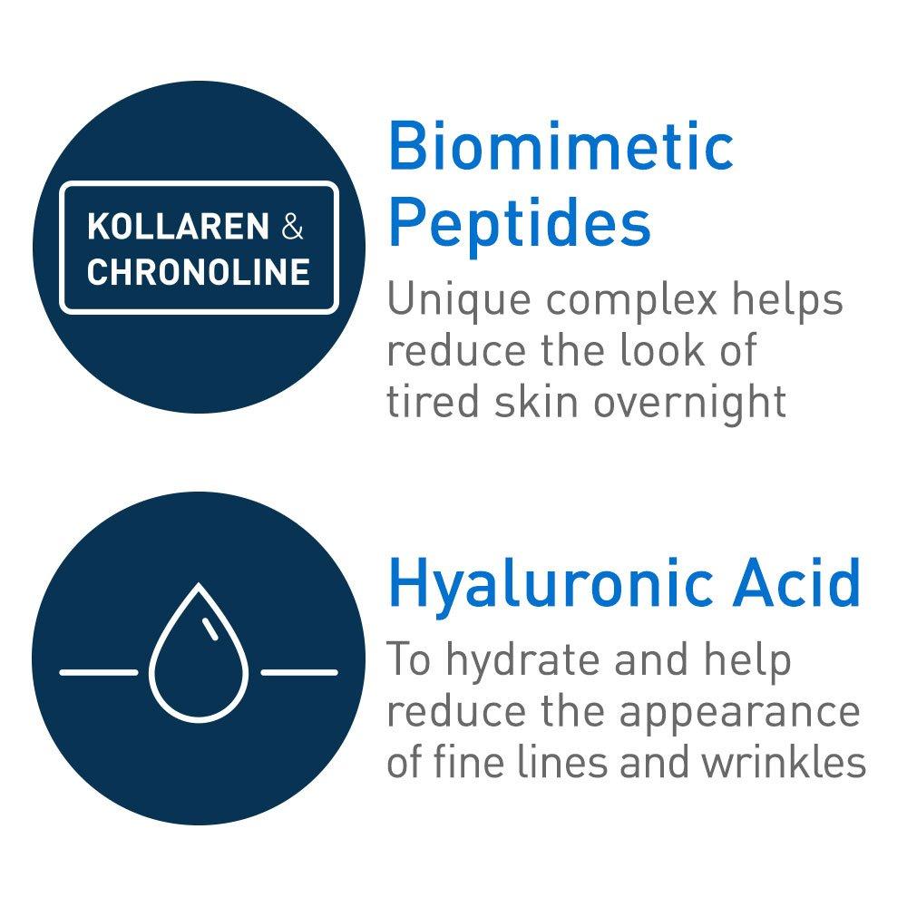 CeraVe Skin Renewing Night Cream - Multipurpose Night Cream, Face Moisturizer, Anti Aging Face Cream & Wrinkle Cream – Moisturizer for Face w Hyaluronic Acid & Niacinamide, 1.7 oz by CeraVe (Image #7)