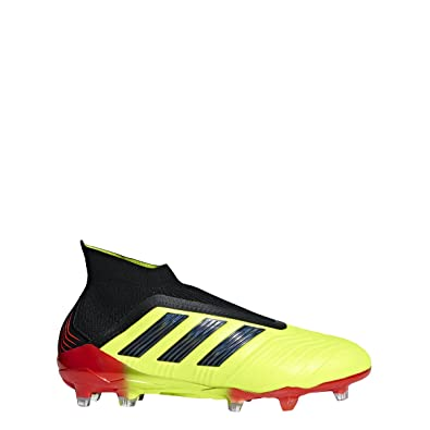 60433af9b adidas Predator 18+ FG Cleat - Men's Soccer 6.5 Solar Yellow/Core Black/