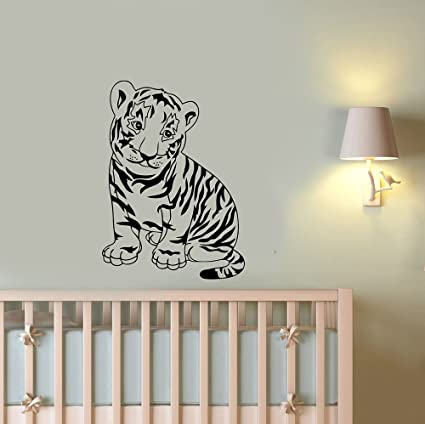 f7c758b067be3 Amazon.com: Baby Tiger Vinyl Decal Custom Wall Sticker Cute Funny ...