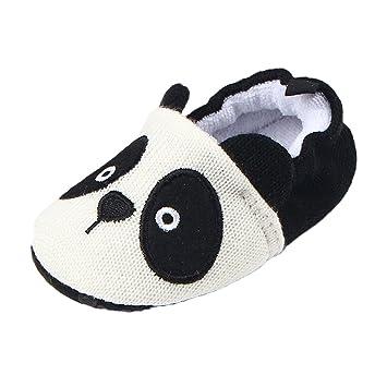 Sharplace Unisex Babé Zapatos Algodón de Punto Deporte para Bebés Accesorios Duraduro Ajustable - Panda, 13cm