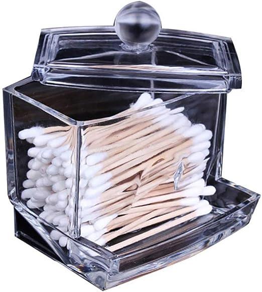 Reutilizable Caja De Almacenamiento De Hisopos De Algodón con Tapa ...