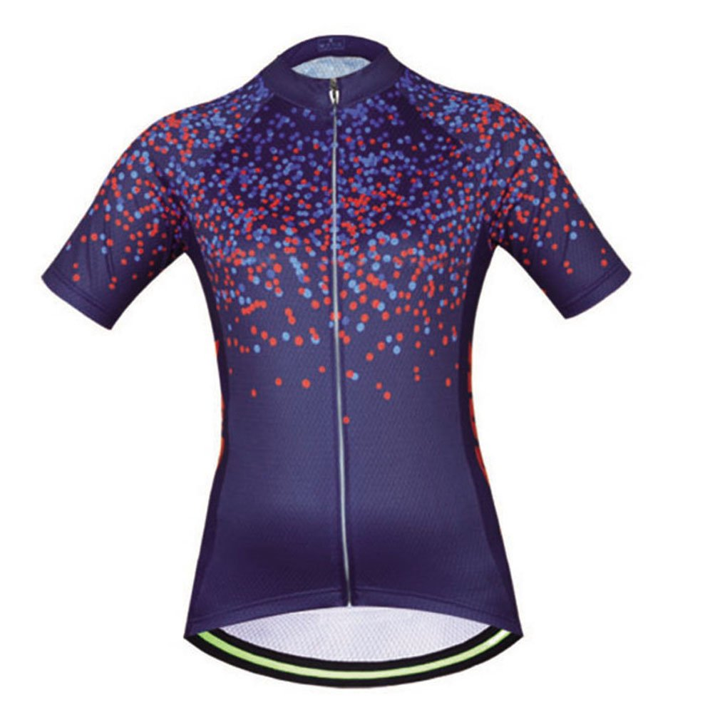 Uriah Women's Cycling Jersey Polyester Short Sleeve Dots Purple Size L by Uriah