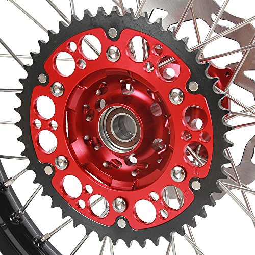 1.6x21'' 2.15x19'' Wheels Rims & Hubs & Spokes & Front Rear Brake Disc & Sprocket & Spacer Raiser - Honda CRF250R 15-17 CRF450R 15-17 by Unknown (Image #2)