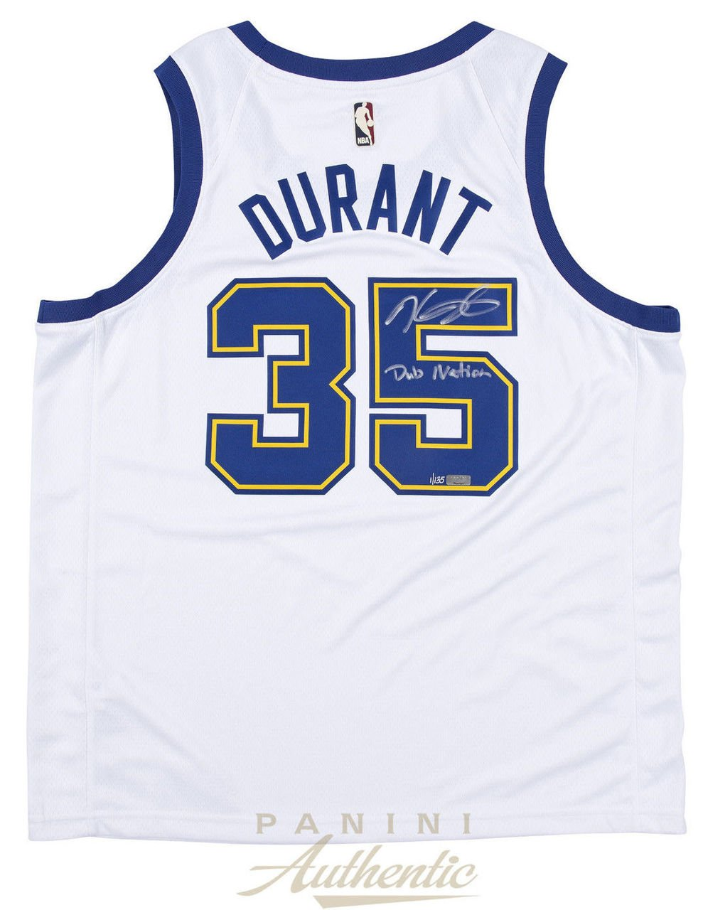 the latest eefb5 a9273 Amazon.com: KEVIN DURANT Autographed Warriors Throwback