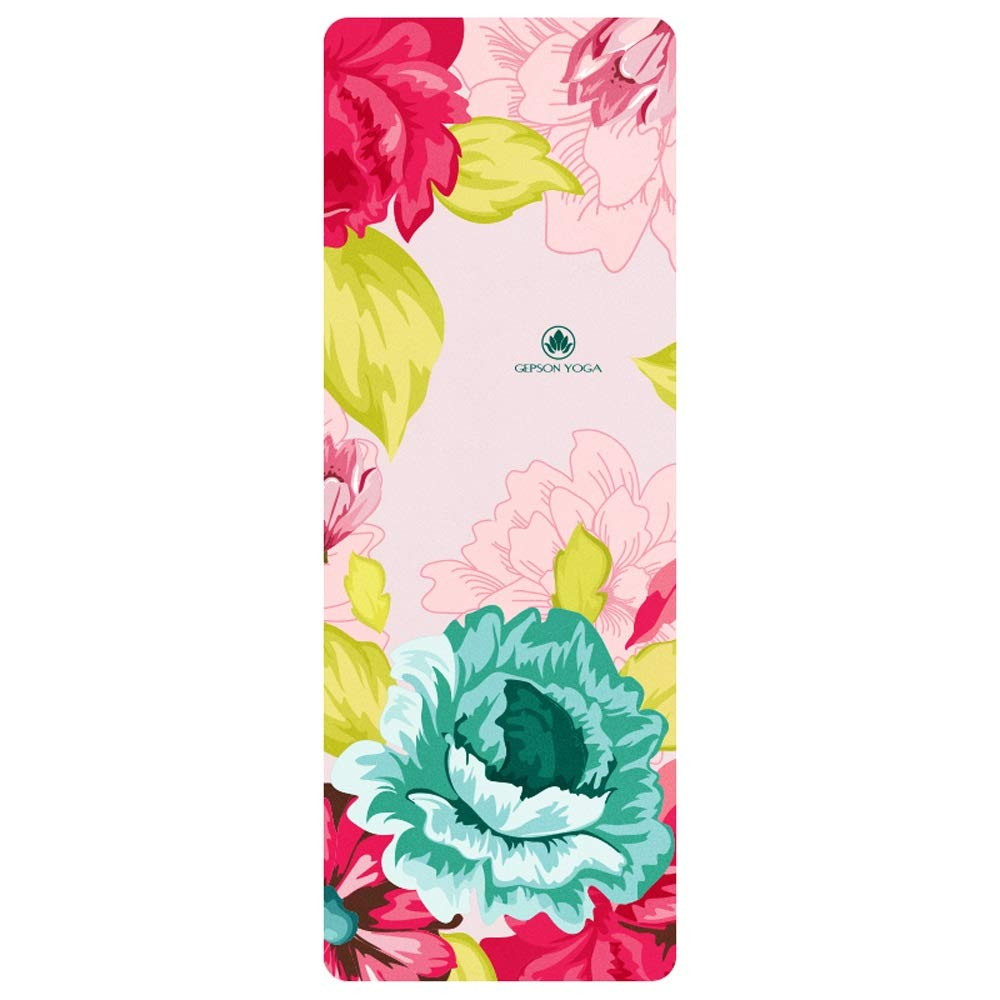 XUEDATING Fitness Mat with,Pro Yoga Mats Extra Long Eco Friendly Non Slip Fitness Mat Exercise Mat Workout Mat for Pilates and Yoga with Body Alignment System,185 cm X 68 cm Thickness 1.5 MM