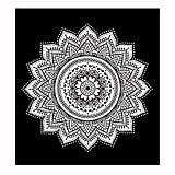Auwer Gorgeous Lotus Pattern Beach Cover-Up Throw Tapestry Wall Art Hanging Pool Home Shower Towel Blanket Mandala Table Cloth Tablecover Yoga Mat Picnic Mat Bedspread Collage Dorm Square (A)