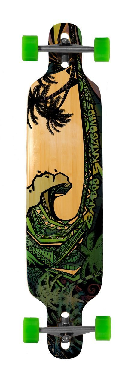 Bamboo Skateboard Twin-Tip Drop Through - Skateboard Through Complete - 40 [並行輸入品] x 9.25 - Green Giant graphic [並行輸入品] B071S256XN, チヂワチョウ:4a376f43 --- m2cweb.com