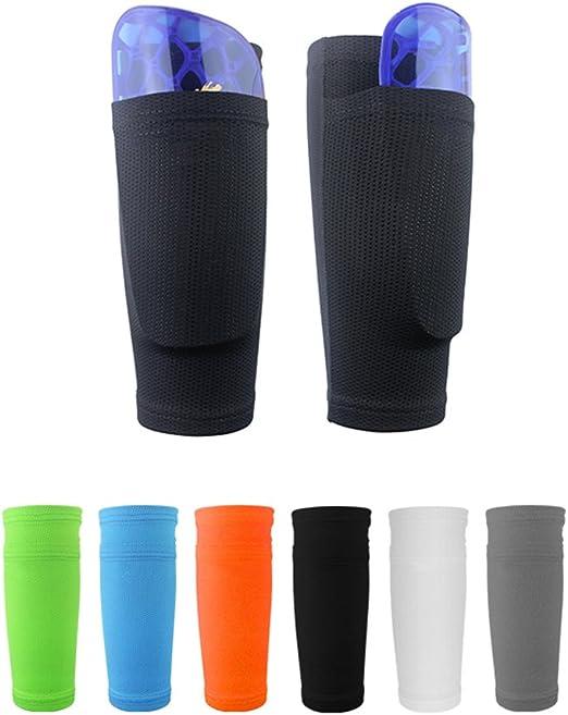 Calcetines protectores de fútbol con bolsillos para espinilleras ...