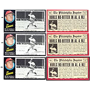 1971 Topps Greatest Moments (Baseball) Card# 43 jim bunning of the Philadelphia Phillies NrMt Condition
