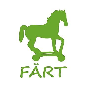 färt caballo sobre ruedas Animales Pegatinas Fun Auto Adhesivo