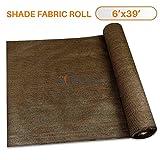 Sunshades Depot 6' x 39' Shade Cloth Brown Fabric Roll 75% Blockage UV Resistant Mesh Net