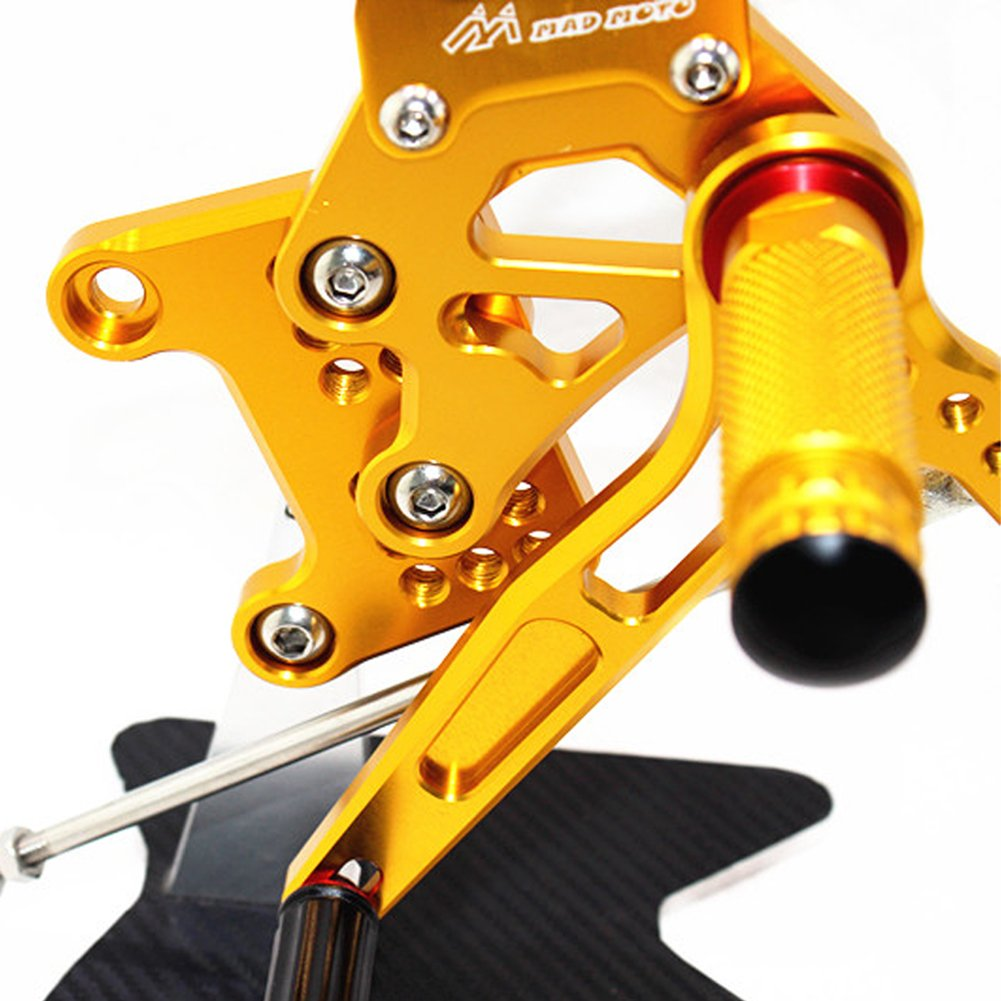 CNC moto regolabile poggiapiedi per Speed Triple 1050 05-10 Rearset pedane posteriori set poggiapiedi Fit per Speed Triple 1050 05-10