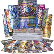 100 Assorted Poke Cards TCG Style Card Holo EX Full Art : 20 GX + 20 Mega + 1 Energy + 59 EX Arts Includes Per