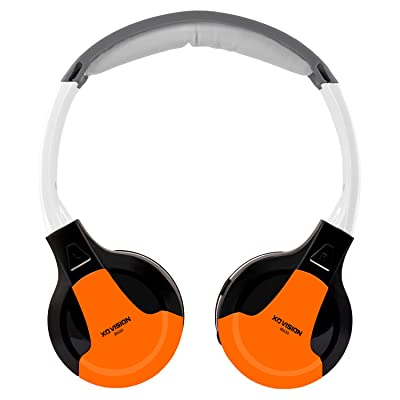 XO Vision Universal IR in Car Entertainment Wireless Foldable Headphones, Orange: Home Audio & Theater