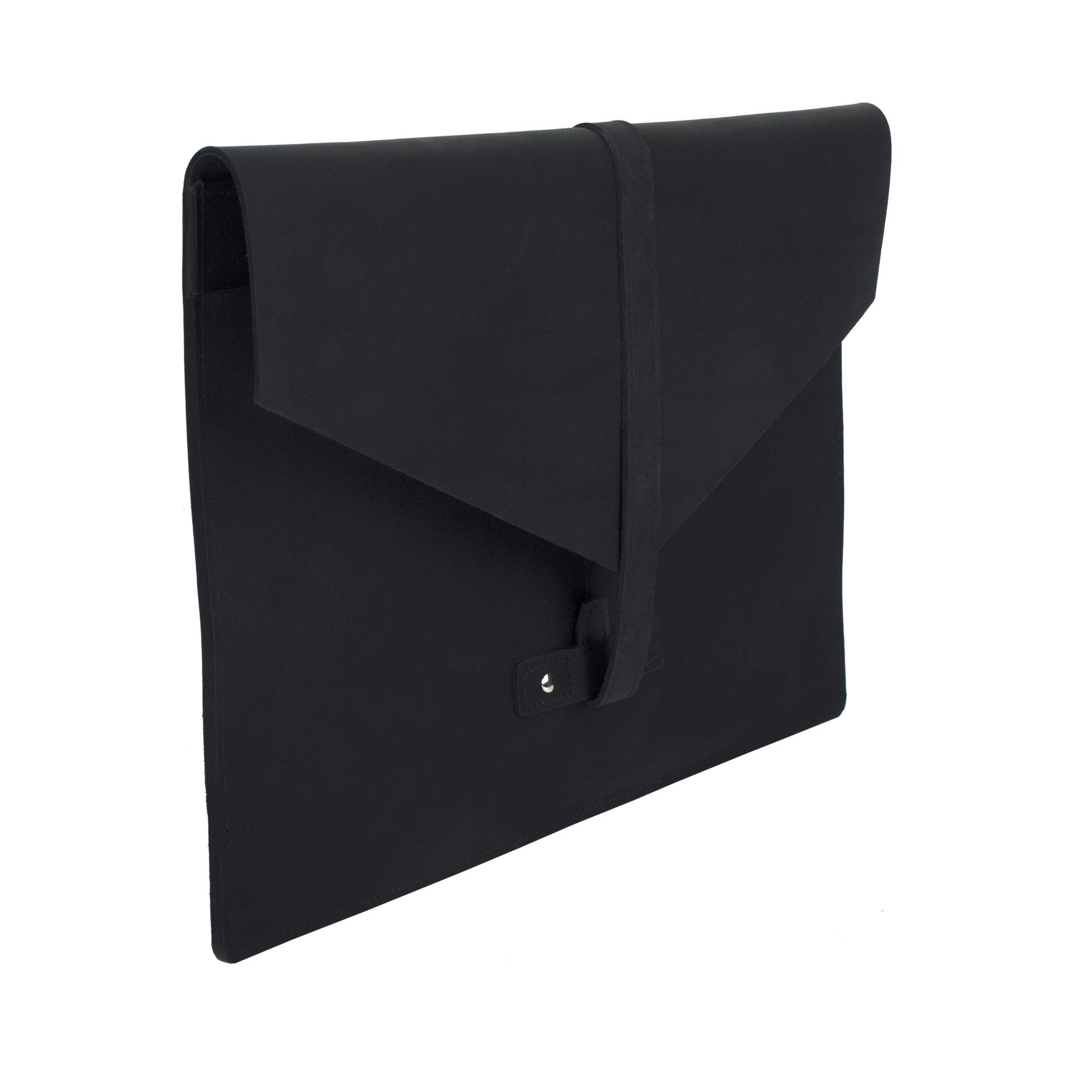 SLATE COLLECTION Belltown Small Laptop Sleeve, Full-Grain Leather (Midnight, fits 13'' Laptop) by SLATE COLLECTION (Image #6)