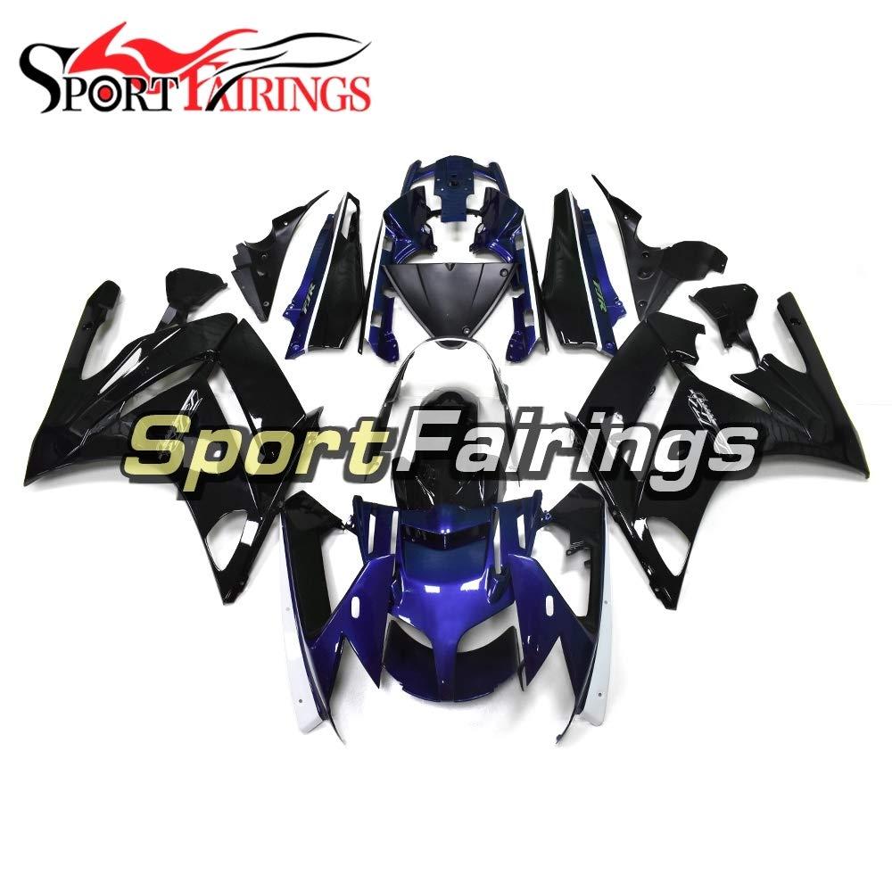 Sportfairings 外装部品セット適応フィッ ABS プラスチックヤマハFJR1300 2007-2011 08 09 10圧縮フェアリングキットダークブルーブラック   B07KFC2WM8