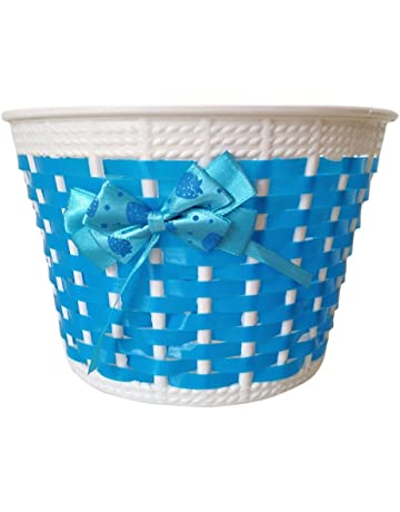 2abf22dd5 Da. WA bicicleta cesta de flores cesta de mimbre cesta bicicleta ciclo de  plástico para