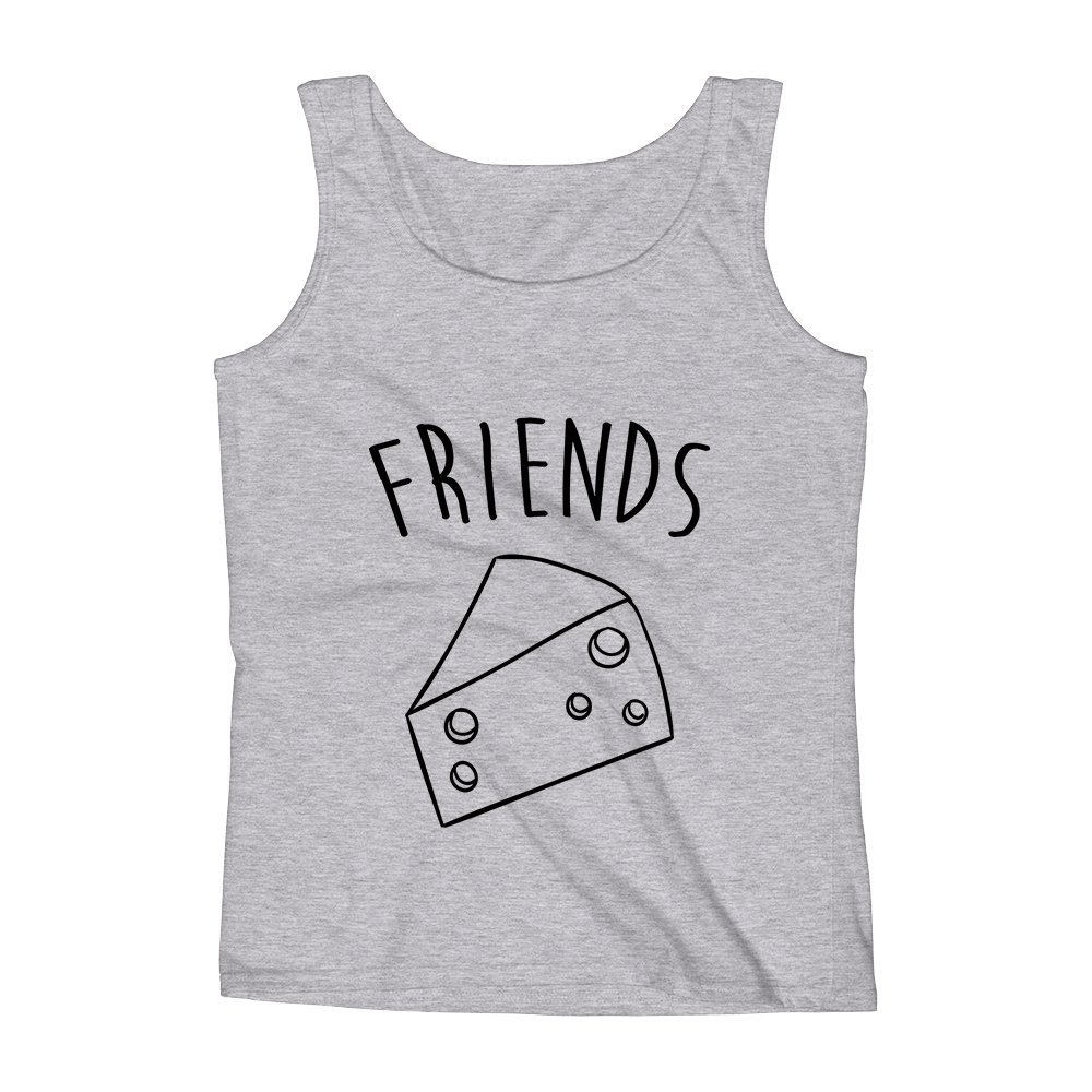 Mad Over Shirts Friends Cheese Dinner Foodie Love Unisex Premium Tank Top