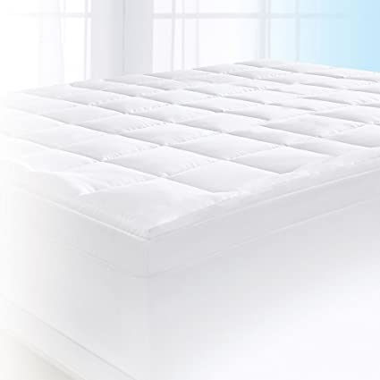 Amazon Com Serta 4 Pillow Top And Memory Foam Mattress Topper