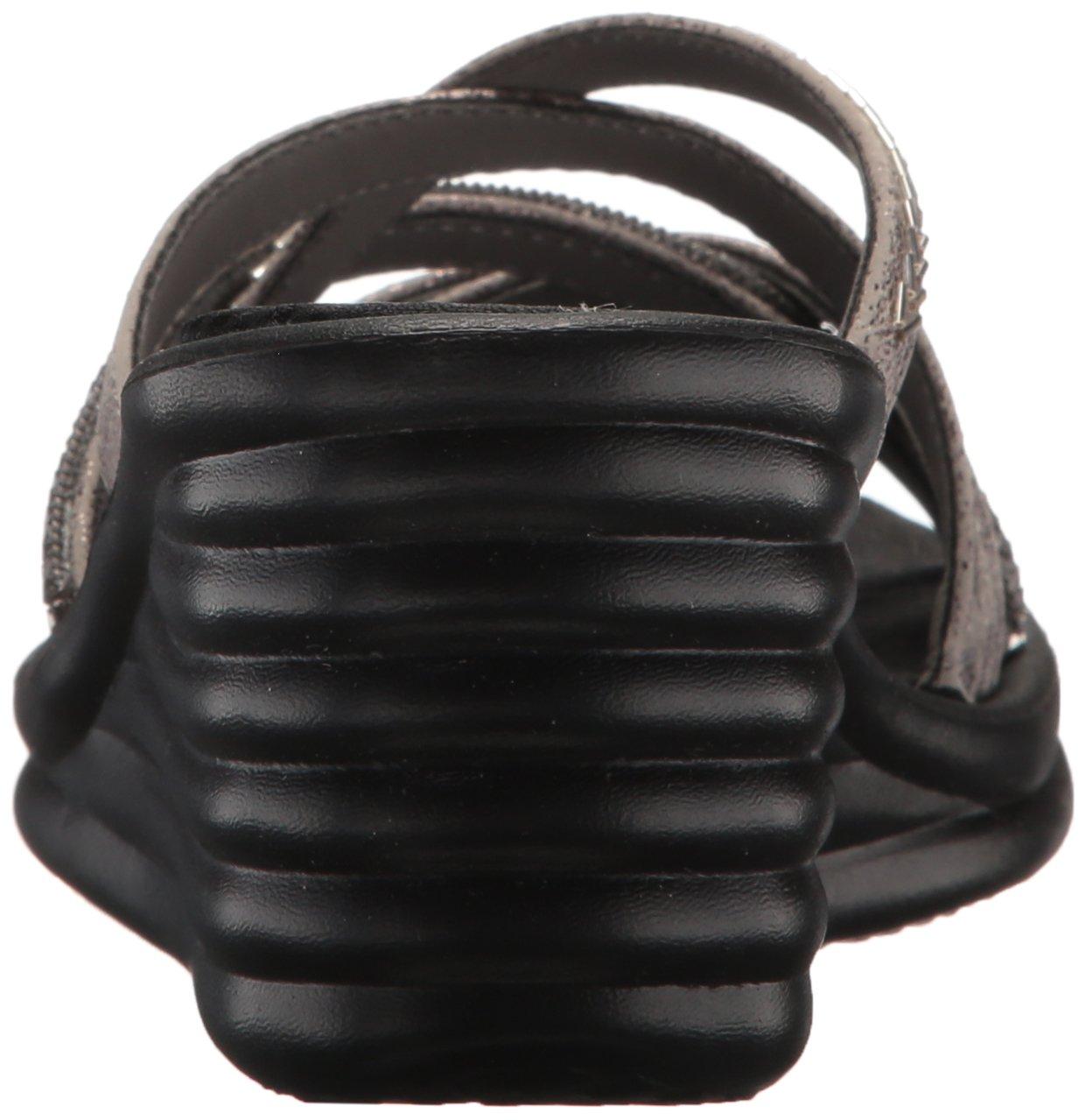 Skechers Cali Women's Rumbler Wave-New Lassie Slide Sandal B077FHHKDJ 9 W US|Pewter