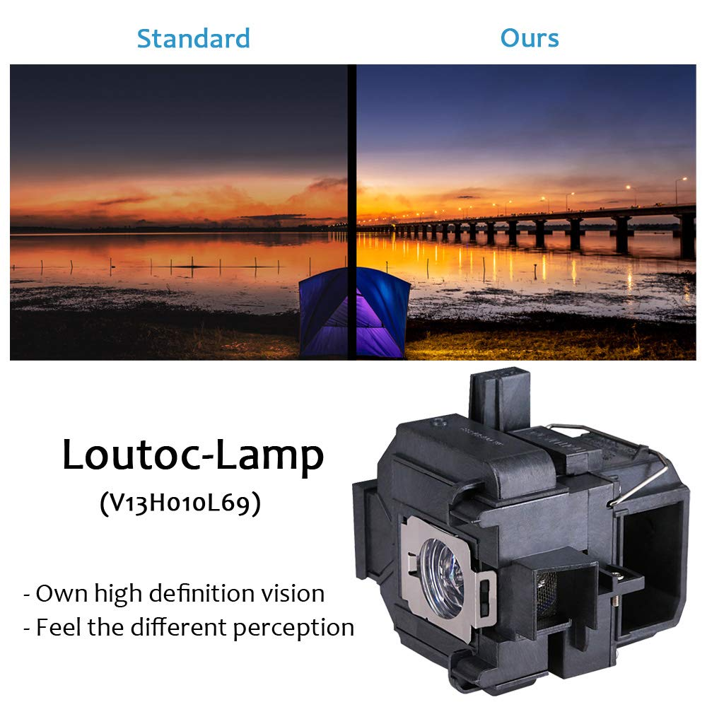 Loutoc V13H010L96 Beamerlampe f/ür Epson ELPLP96 PowerLite Heimkino EB-S41 EH-TW5650 EH-TW650 EB-U05