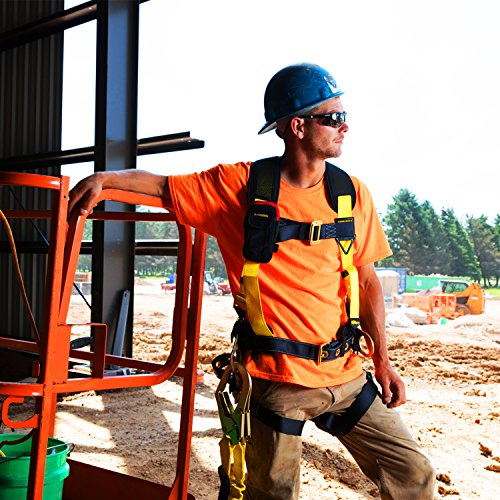 KwikSafety (Charlotte, NC) TYPHOON | ANSI Fall Protection Full Body Safety Harness | Personal Protective Equipment | Dorsal Ring Side D-Rings Grommet Leg Straps Tool Lanyard Bolt Pouch, Construction by KwikSafety (Image #7)