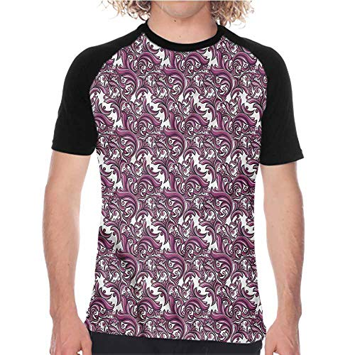 Abstract Floral Jersey - Vintage,Boys Short Sleeve T-Shirts S-XXL(This is for Size Small) Abstract Floral Art,Loose Tee Shirt Baseball Jersey