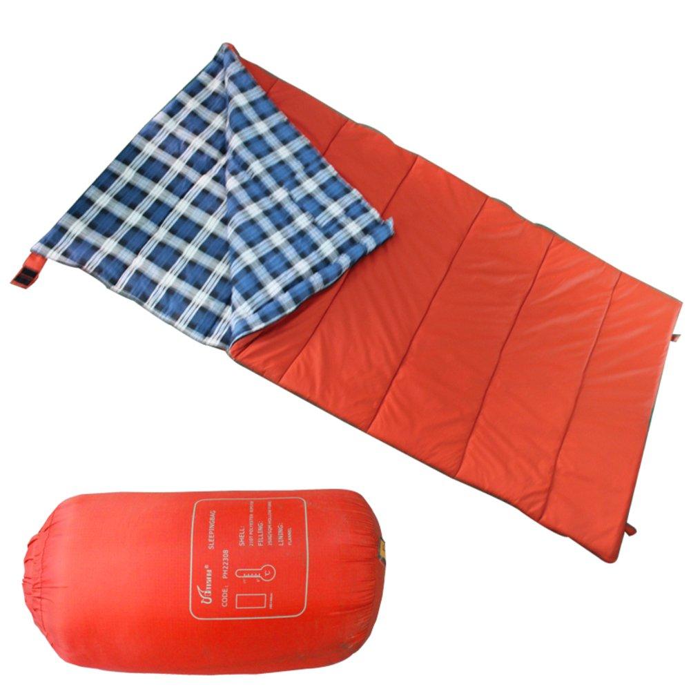 Widenedアウトドア封筒型寝袋/キャンプの増加とレジャーブランケット/ポータブル防水Sleepingバッグ B0727P42JN  レッド