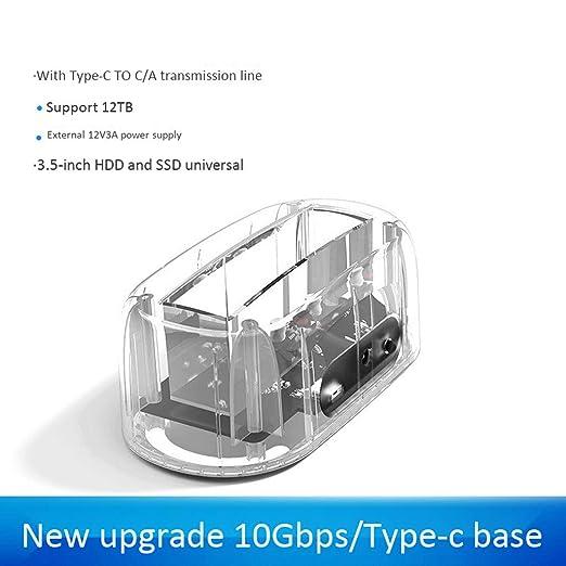 HWENJ 2.5 3.5 SATA A USB 3.1 HDD Case 10Gbps Gen2 Soporte UASP ...