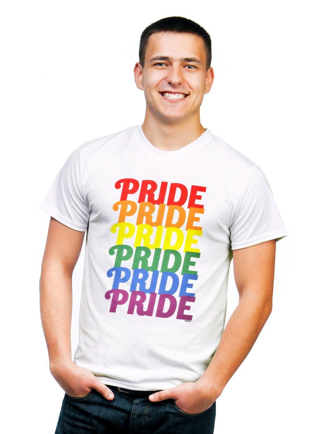 Retreez Classic Rainbow Lgbt Lgbt Lesbian Gay Pride Graphic Printed T Shirt Tee 6035